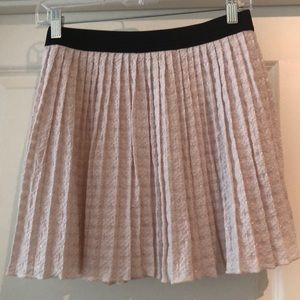 ASOS light pink pleated skirt